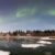 E1WWH7 Giant Mine townsite and Aurora Borealis, Northwest Territories, Canada