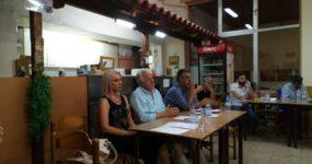 Ο Αστ. Γαβότσης ενημέρωσε τους δημότες του Δρυμού για τις θετικές εξελίξεις στο θέμα του νερού