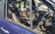 Κάηκε ολοσχερώς αυτοκίνητο στην παραλιακή της Θεσσαλονίκης (φωτο & video)